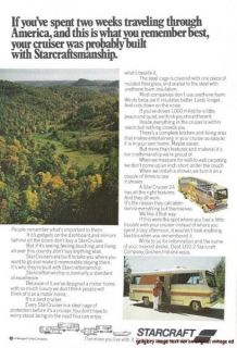 Starcraft Travel Trailer Motor Home 2 Vintage Print Ads Goshen Indiana