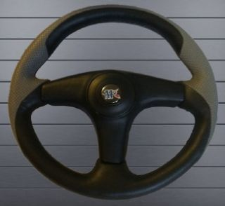 POLARIS Ranger steering wheel golf cart W/Adapter 3 spoke BLACK SILVER