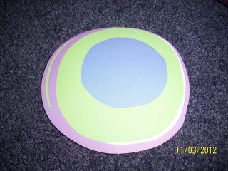 Groovy Retro Modern Hot Dots Wallies Blue Orange Purple Circles Dot