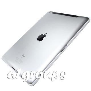 White Aluminum Bluetooth Wireless Keyboard Case Folio for iPad 2 New