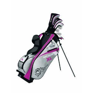Womens Callaway Golf Set w Composite Driver Hybrids Irons Putter Stand