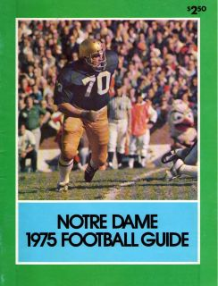 Dame Fighting Irish Football Media Guide Joe Montana Golic
