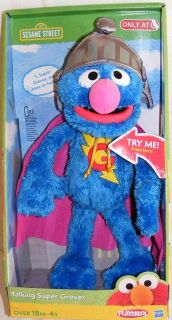 Talking Super Grover New Sesame Street Plush Doll Exclusive 14