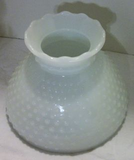 GONE WITH THE WIND Style Lamp MILK WHITE HOBNAIL GLOBE SHADE Scalloped