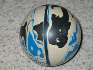 Vintage Pair of Duckpin Bowling Balls Ebonite Tornado 8g Blue Black