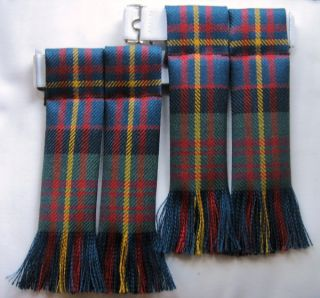 KILT HOSE SOCK FLASHES CAMERON OF ERRACHT MUTED TARTAN KILT MADE IN