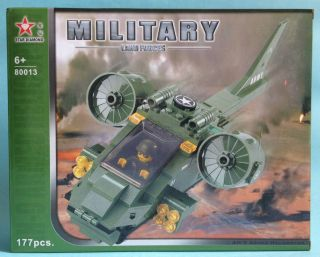 military ah 9 army helicopter blocks non lego ship aircraft