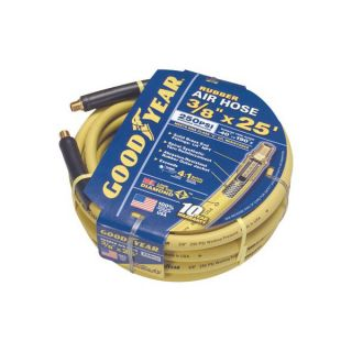 Goodyear 46504 3 8in x 25ft 250 PSI Rubber Air Hose with 1 4in