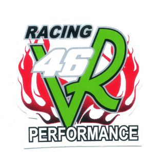 Racing 46 Valentino Rossi Performance Motorcycle Car Helmets Decals