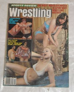 Sports Review Wrestling Magazine Bikini Girls Andre Backlund