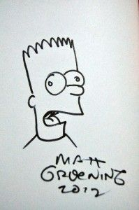 Comic HC Book Signed Matt Groening Bongo SDCC Comic Con 2012