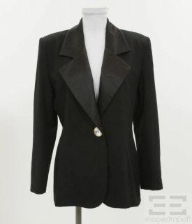 Givenchy Black Wool Jeweled Button Tuxedo Jacket Size 40 10 New