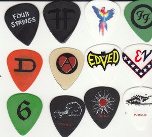 Black Foo Fighters Dave Grohl 606 Music Midtown 2012 Tour Guitar Pick
