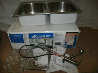 Glacier Bay 20ga Stainless Steel Sink Combo Kit 551272