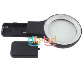 Potable Hand Held Magnifier Reading 5X Loupe Magnifying 10 LED Light 3