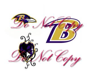 Baltimore Raven Nail Art Decals Waterslide Set of 60 3 Different