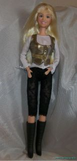2007 Disney Hannah Montana Doll Rock Star Black Lace Outfit Miley