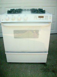 Profile 30 Slide In Gas Range Oven Glass Cooktop JGSP44 Setup for L P