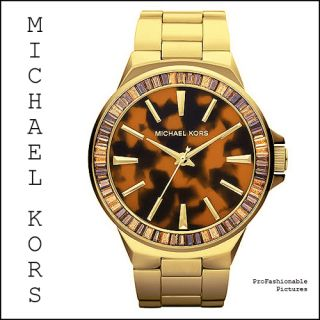 MICHAEL KORS GOLD CRYSTAL GLITZ TORTOISE MK5723 WOMENS GRAMERCY WATCH