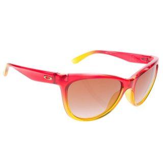 Womens Oakley Fringe Sunglasses Dark Brown Gradient Pink Sherbert