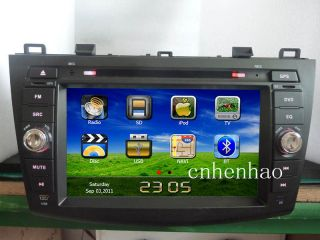 in Dash GPS Car DVD Player Stereo for 2010 Mazda 3