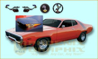 Runner 340 400 440 w Air Grabber Complete Decals Stripes Kit