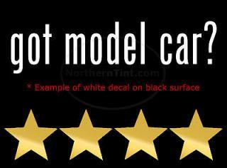 got model car vinyl wall art truck car decal sticker