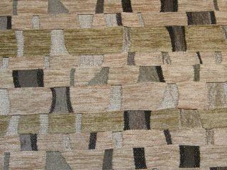Melrose Platinum Black Tan Modern Upholstery Fabric BTY