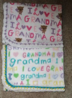 Crib Nap Blanket I Love Grandma 2 Colors 28X45