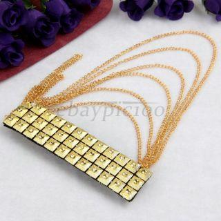 Gold Tone Metal Tassel Stud Rivet Brooch Epaulet Shoulder Board Mark