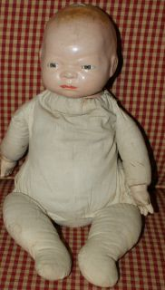 Vintage Antique Composition Baby Doll Grace Storey Putnam Bye Lo Baby