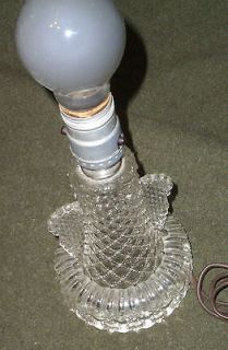 art deco glass table lamp angel wing style exc working