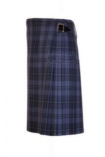 Hamilton Grey Tartan 100 Wool Traditional Scottish 8 Yard Full Dress