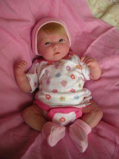 Preemie Baby Girl Doll Gracie Full Vinyl Limbs Blonde Hair