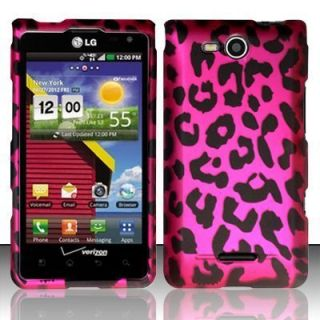 For LG Lucid 4G Rubberized Hard Protector Case Phone Cover Hot Pink
