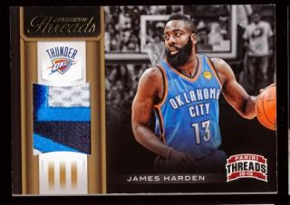 James Harden 2012 13 Panini Threads Beautiful 3 Color Patch Jersey 25