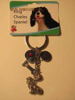 King Charles Spaniel Dog Key Chain with Charms R$9.99