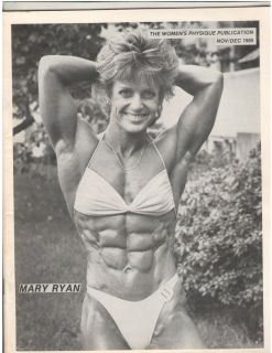 WOMENS PHYSIQUE PUBLICATION female bodybuilder magazine Mary Ryan