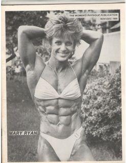 WOMENS PHYSIQUE PUBLICATION female bodybuilder magazine Mary Ryan