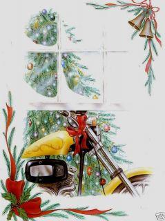 Motorcycle Christmas Greeting Cards w Harley Davidson 2