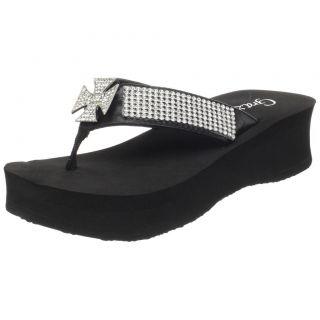 Grazie Flip Flop Sandal Jessie Black