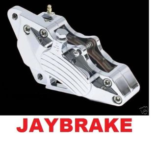 Jaybrake Chrome Dual Disc Brake Caliper s Harley 1984 1999 Complete