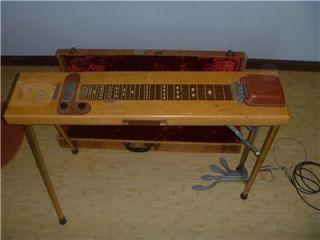 RARE VTG 1945 HARLIN BROS. MULTI KORD PEDAL STEEL GUITAR W/CASE! NEEDS