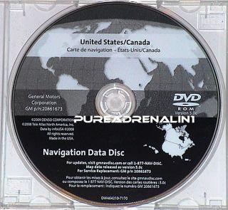 Sierra Yukon Tahoe Cadillac DTS SRX Navigation Map Disc CD DVD
