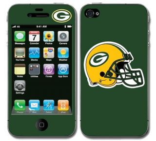 Green Bay Packers Skin Decal Cover iPhone 4 Sticker Body Guard Go