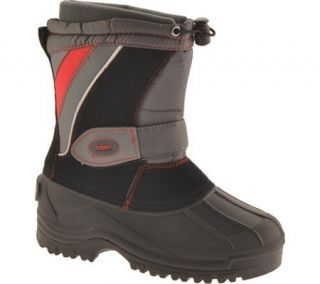 Totes Ray Youth Boys Black Red Insulated Winter Snow Duck Boot