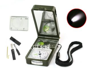 Hunt 10 in 1 Army Green Camp Hiking Survival Outdoor Tools Compass