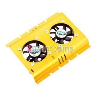 PC SATA IDE 3 5 Hard Disk Drive HDD Cooler 2 Fan