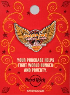 Hard Rock Cafe 2011 John Lennon Imagine Theres No Hunger Whyhunger