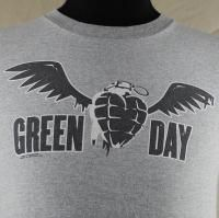 Green Day American Idiot 2005 Winged Heart Grenade Mens T Shirt Small